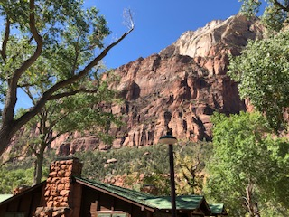 Zion porch morning view